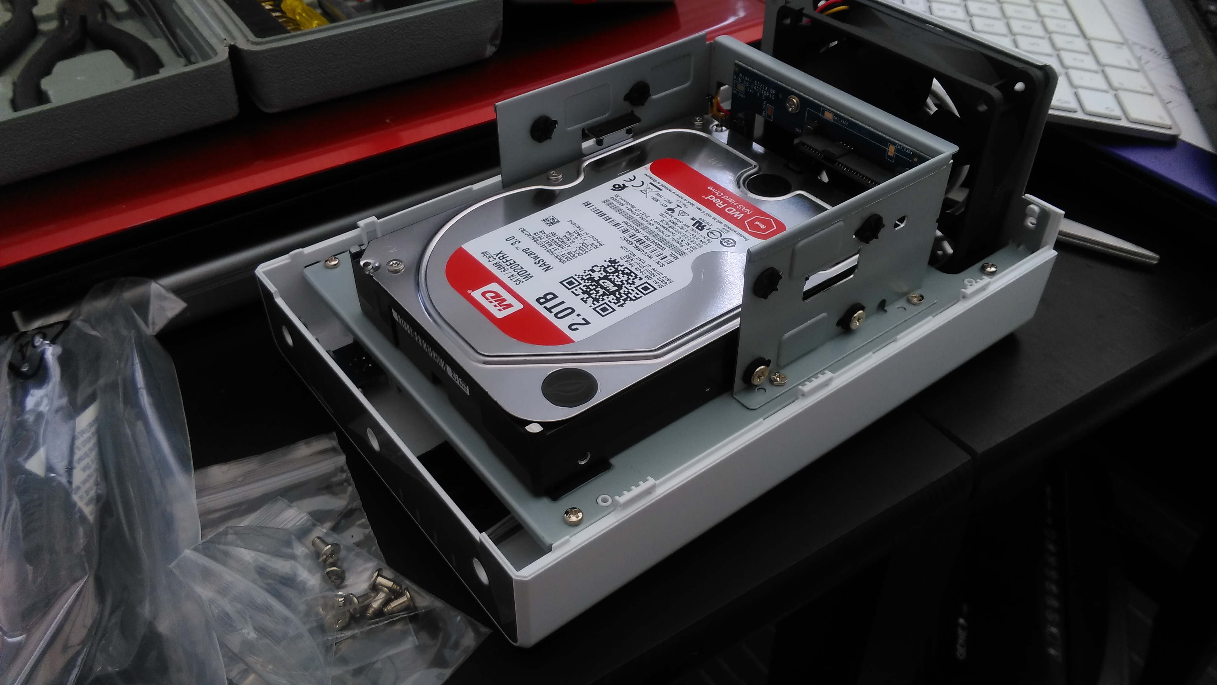 Installing Hard Drives in a Synology DS218j