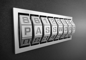 The Word password on a combination lock