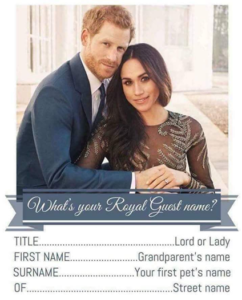 What is your Royal Guest Name quiz